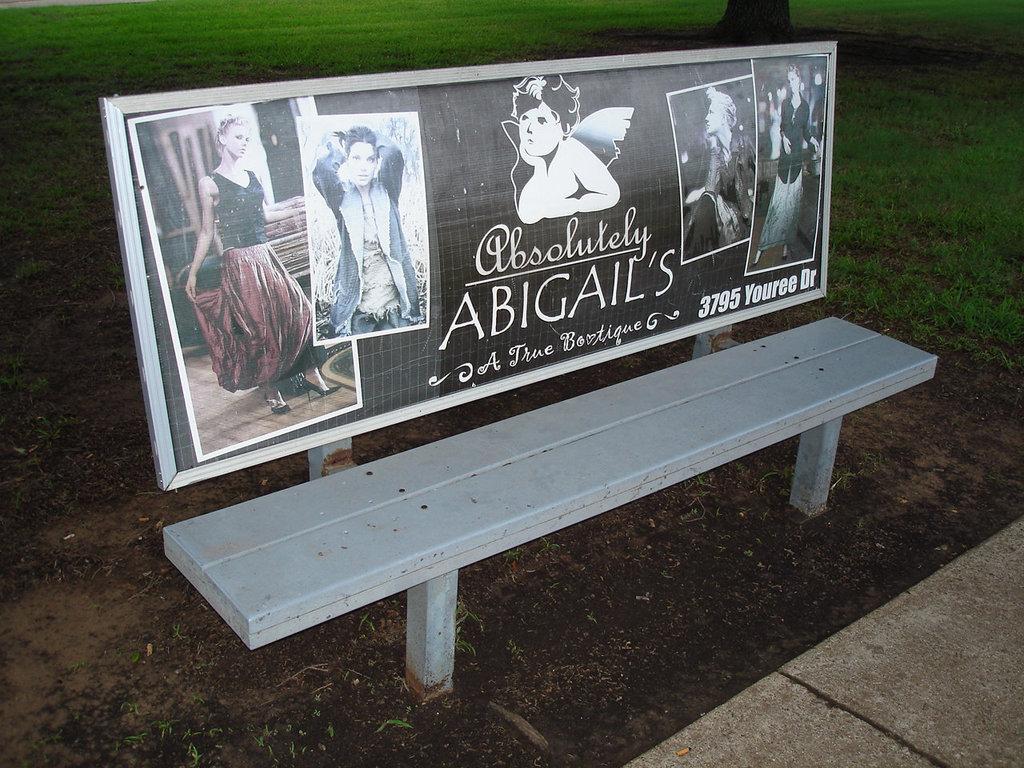 Abigail's bench / Le banc Abigail - Bossiercity / Louisiane, USA - 7 juillet 2010