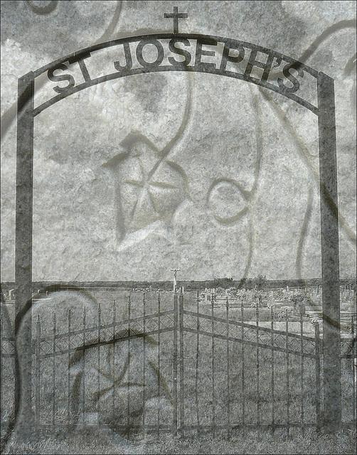 St-Joseph's cemetery / Texas. USA - 5 juillet 2010 - Création Leokät