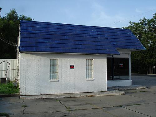 No parking building / Stationnement interdit - Bastrop, Louisiane. USA - 8 juillet 2010