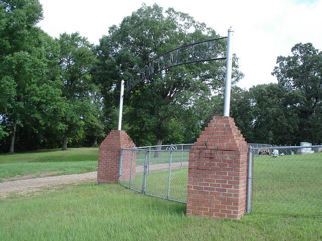 Pepper fence  / Clôture poivrée - Mt Zion cemetery. Minden, Louisiane - USA - 7 juillet 2010
