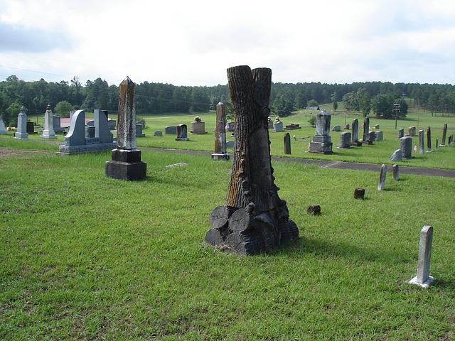 Funeral trunk / Tronc funéraire trunk - M. Carter /   Mt Zion cemetery. Minden, Louisiane - USA - 7 juillet 2010