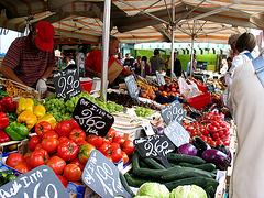 auf dem Meraner Markt