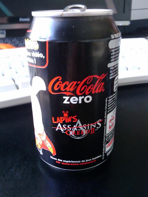 Ubisoft-branded CocaCola Zero cans