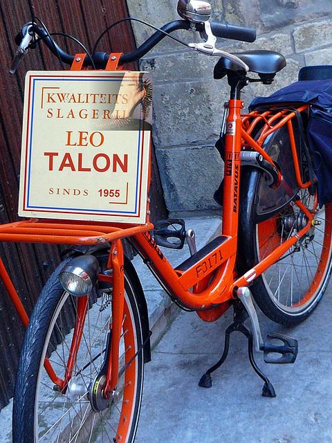 Kwaliteits Slagerij  Leo Talon  Sinds 1942 -  Delft en Hollande 1955.
