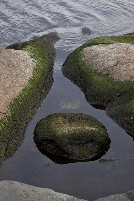 Rocks with pool