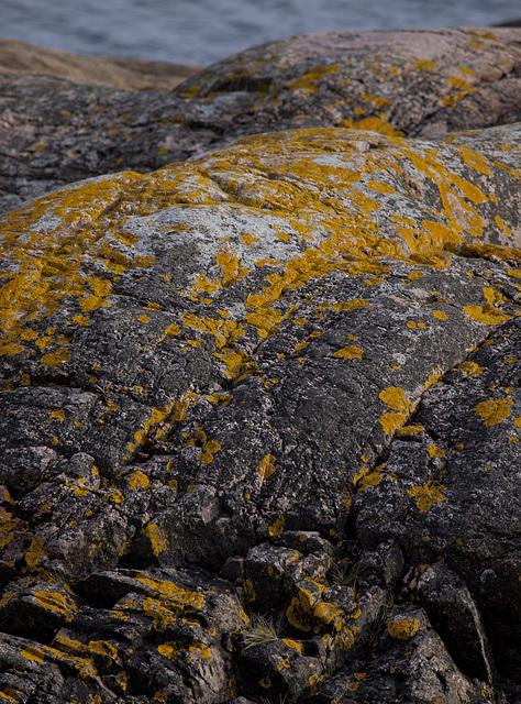 Colored cliff