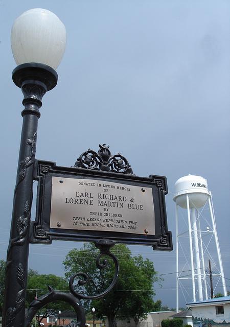 Vardaman, Mississippi. USA - 9 juillet 2010 - Recadrage sans électricité