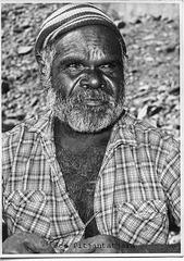 Aboriginal elder Joe at Areyonga NT 1965