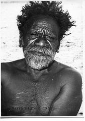 Aboriginal elder Harry at Areyonga NT 1965