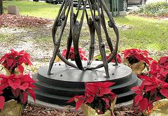 Base of sculpture in Central Park,