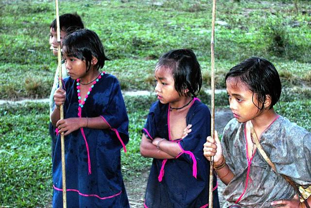 Karen girls in the village