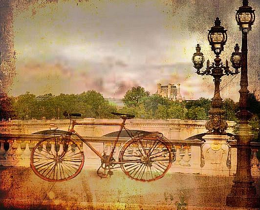 à Paris en vélo on dépasse les autos