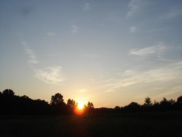 Coucher de soleil / Sunset - Pocomoke, Maryland. USA - 18 juillet 2010 - Photo originale.