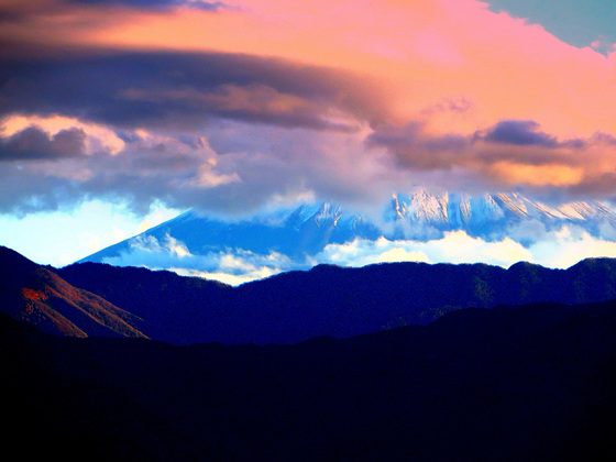 mt. fuji, japan( partly obscured)..3,776.24m. An active stratovolcano that last erupted in 1707-1708