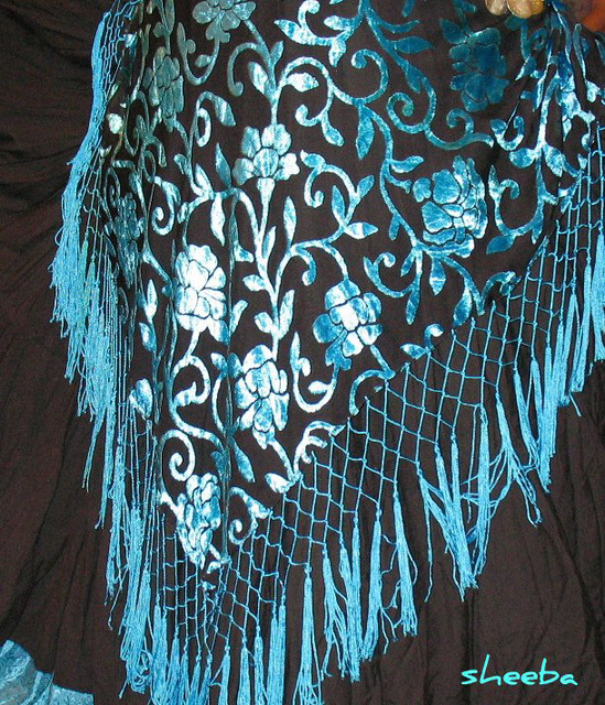 Fringed hip scarf...