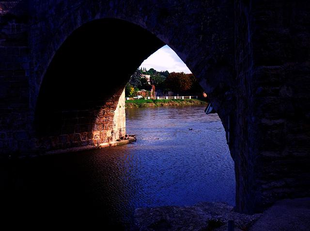 canard sur l'Aude effet nuit