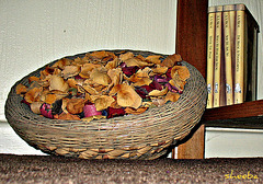 Basket of potpourri. . .