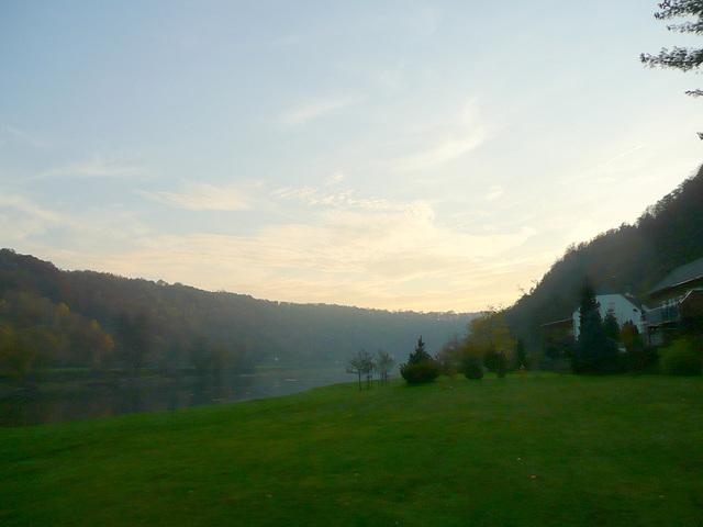 Herbstabend im Elbtal