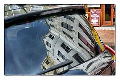 Rear window reflections