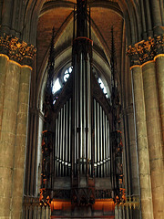 P9264218ac Reims Cathedral Graceful Gothic Choir Organ