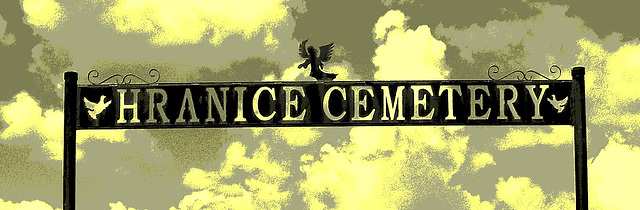 Hranice cemetery / Texas. USA - 5 juillet 2010 - Recadrage en vintage  postérisé