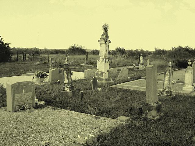 Hranice & St-Joseph's cemeteries - Texas. USA - 5 juillet 2010 - Vintage