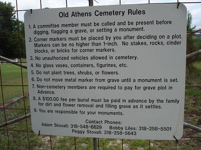 Old Athens cemetery /  Athens, Louisiana. USA - 7 juillet 2010.