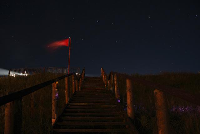 Sternenhimmel mit Treppe