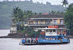 Crowded ferry boat