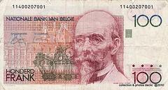 billets de banque BELGES 100 Frb