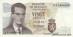 billets de banque BELGES 20 Frb