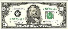 billets de banque USA 50 $usd