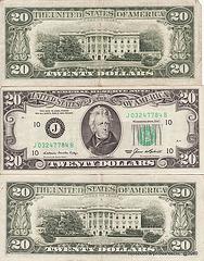 billets de banque USA  20 $usd
