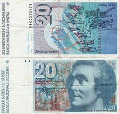 billets de banque SUISSE 20 FRs