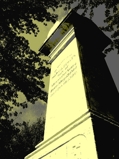 Protestant cemetery  / Cimetière protestant - Huntington Qc. CANADA . 30-08-2010 - Vintage postérisé