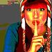 Avatar de Lilette en 2008 / Lilette's avatar in 2008.  Version postérisée