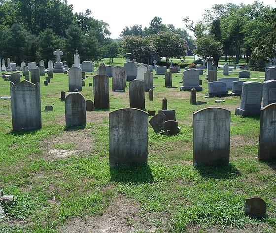Ebenezer united methodist cemetery / Cimetière - Berlin, Maryland. USA - 18 juillet 2010.- Recadrage