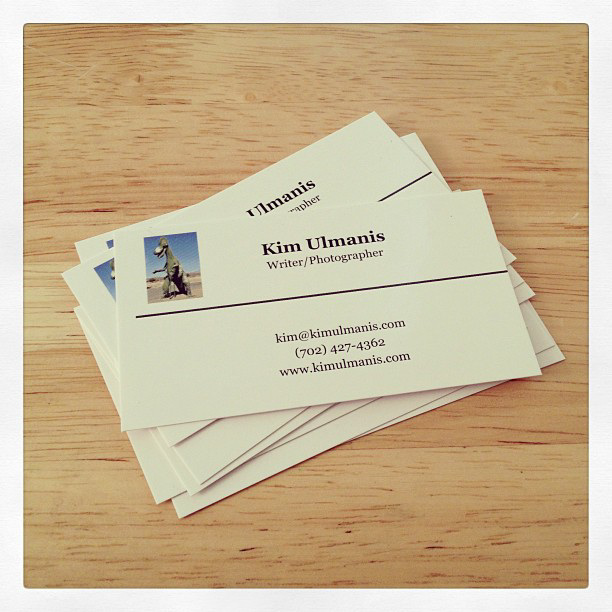 New cards arrived today. So excited! Web site will be ready in about a week or so. Love my pic of the dino on there too. Rawr!