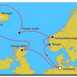 Route Nordlandkreuzfahrt