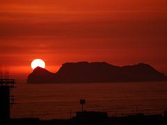 Sonnenuntergang in Lima/Peru
