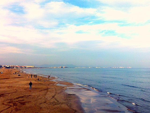 Valencia: playa de las Arenas.