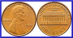 U.S.A.  1 Cent 1974