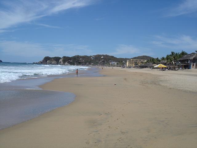 Playa Zipolite, Oaxaca / Mexique / Janvier 2011.