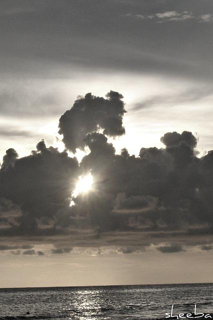 Black 'n White Sunset...