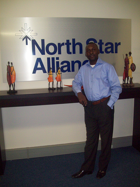 Durban, South Africa. Enla oficejo de North Star Alliance