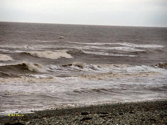 wavy Irish sea