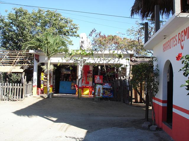 Sur le chemin entre Zipolite et Puerto Angel, Oaxaca. Mexique / 14 janvier 2011.