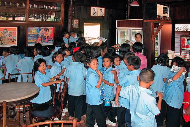 School class visiting Mueang Boran, Ancient Siam
