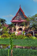 Wat Asokaram at the entrance to Mueang Boran