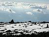 Schnee auf dem Vulkan